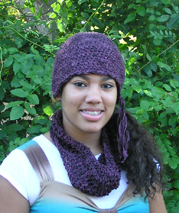 Gypsy ribbon crochet hat
