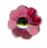 Niobium Flower Crystal Post Earrings