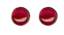 6mm ruby cab titanium post earrings