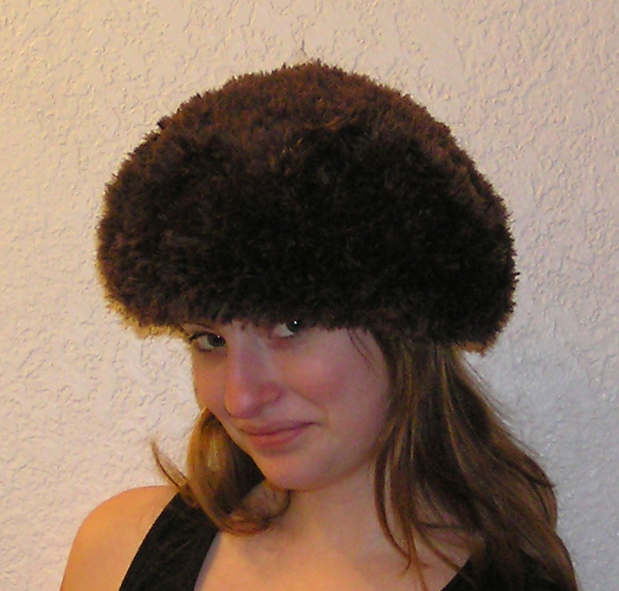 Sable Beret Faux Fur Crocheted Hat