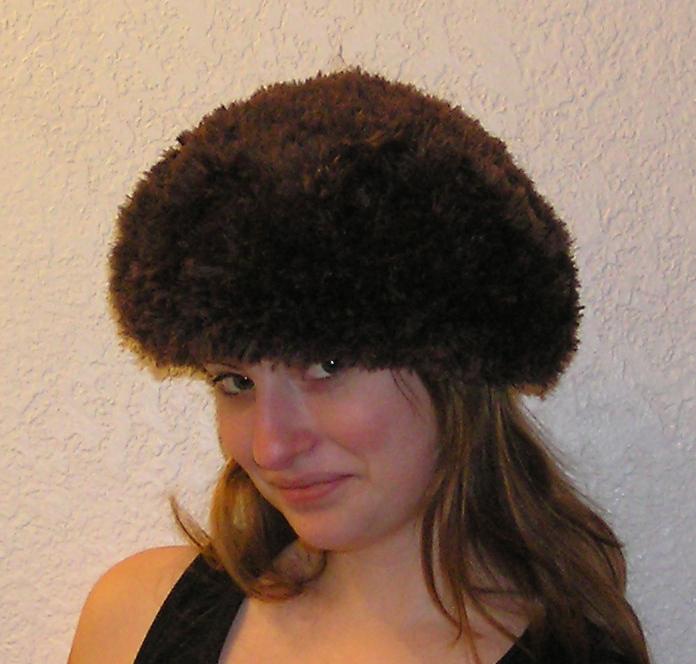 Sable Beret Faux Fur Crocheted Hat