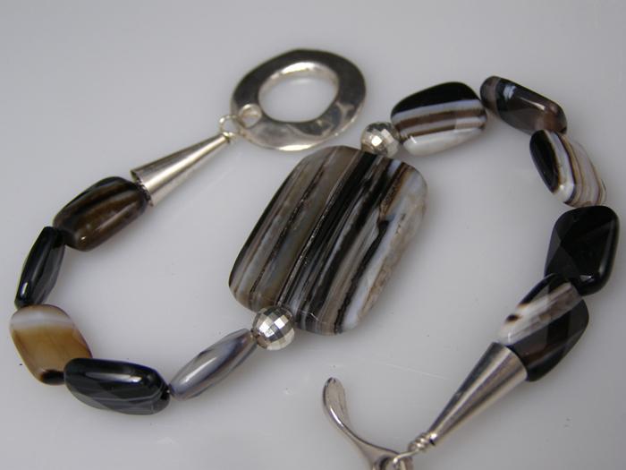 designer Botswanna Agate bracelet