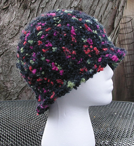 Scorpius Crocheted Hat side view