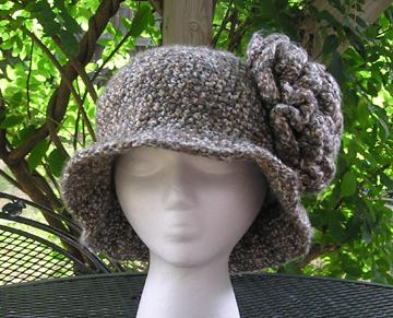 custom Sweet Charity flapper style crochet hat