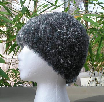 custom silver fox faux fur crochet hat