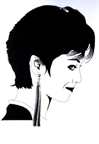 hypoallergenic silver leather earrings