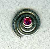 titanium spiral earring jackets