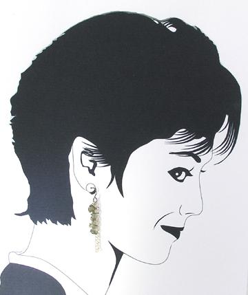 smoky quartz dangle hypoallergenic earrings