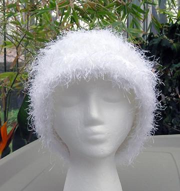 Snowflake Faux Fur Crochet Hat