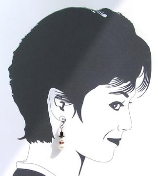 snowman dangle earrings