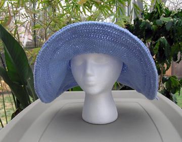 crochet cotton sun hat