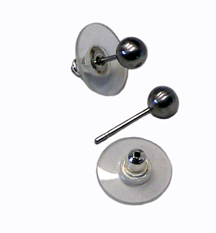 surgical stainless steel 5mm ball post earrings