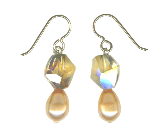 hypoallergenic Swarovski Pearl & Bead earrings