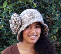 custom Sweet Charity flapper style crochet hat