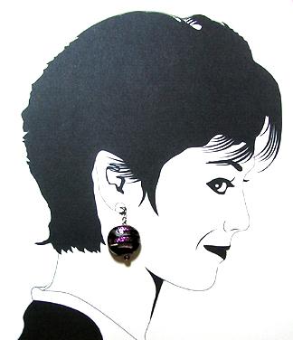 hypoallergenic dichroic earrings