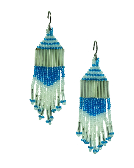 hypoallergenic native american bead earrings