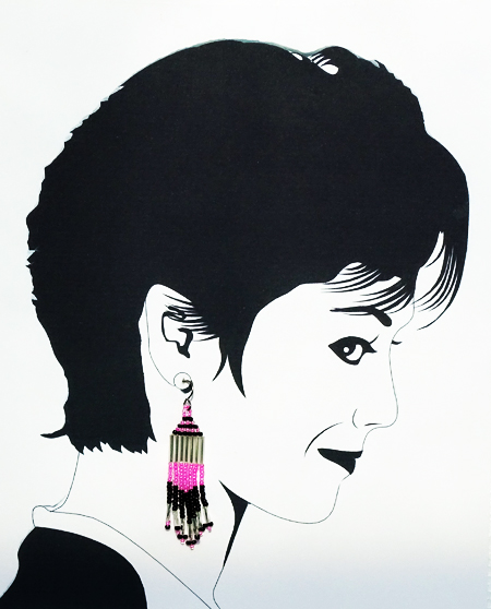hypoallergenic native american bead earrings