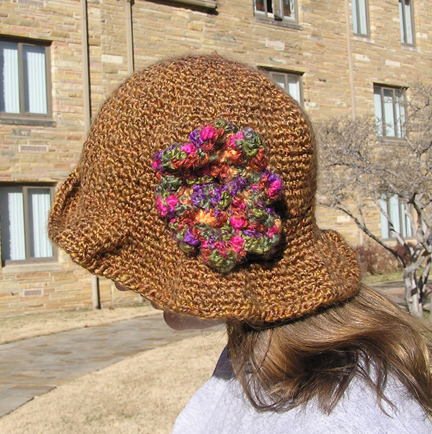 handcrafted flamboyant aussie crocheted hat