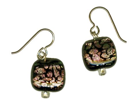 hypoallergenic dichroic glass earrings
