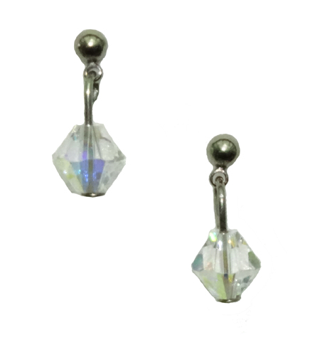 hypoallergenic swarovski crystal dangle titanium post earrings
