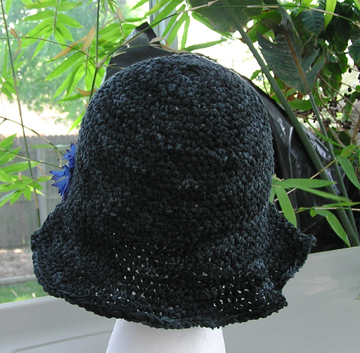 luxury ribbon crochet hat with flower