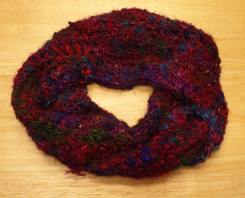recycled silk infinity scarf
