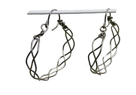 braided titanium hoops