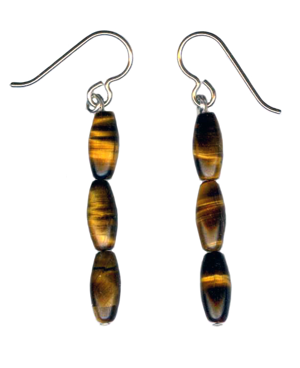 tiger eye  Hypoallergenic Earrings