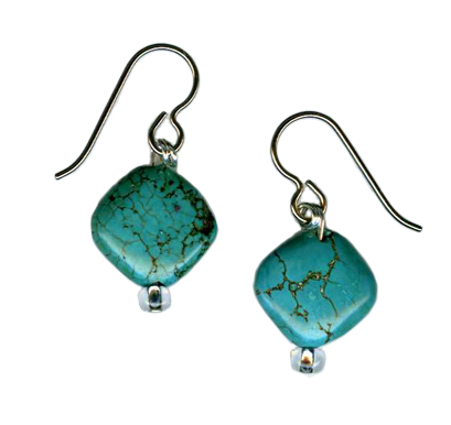 turquoise marcasite Hypoallergenic earrings