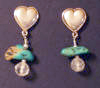 Designer Turquoise Heart Earrings