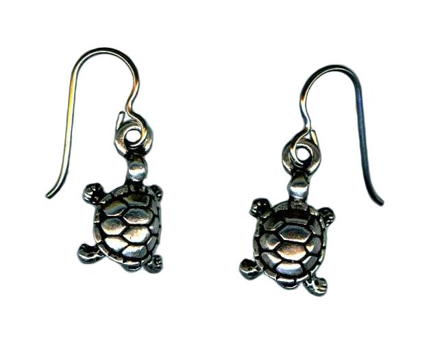 hypoallergenic turtle earrings