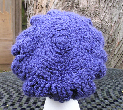 custom Cornflower Beret crocheted hat