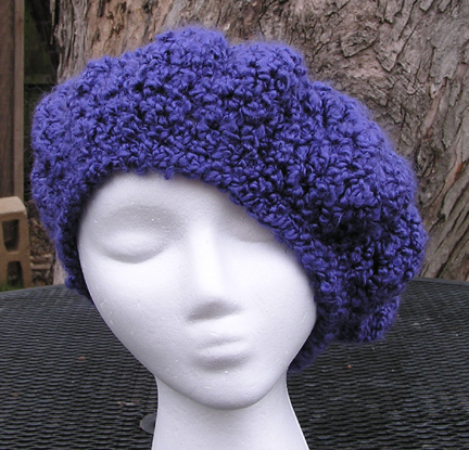 custom Cornflower Beret crochet hat