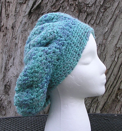 Waterfall Slouchy Crocheted Hat