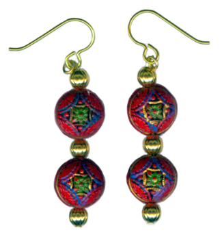 hypoallergenic earrings by Women Who Bead