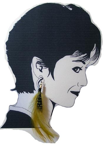 hypoallergenic feather Earrings
